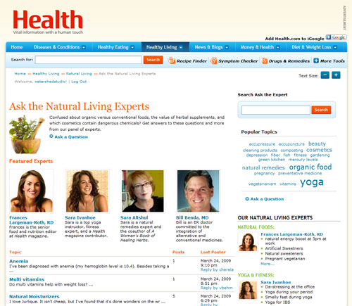 Health.com TalkPress